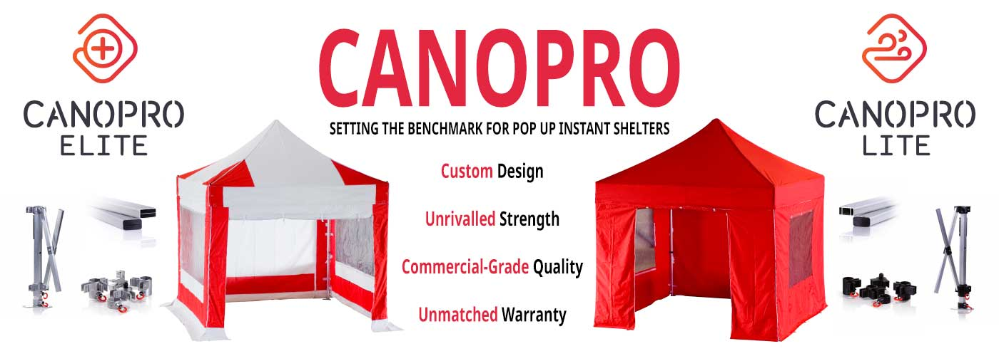 Canopro Elite and Lite Instant Shelters