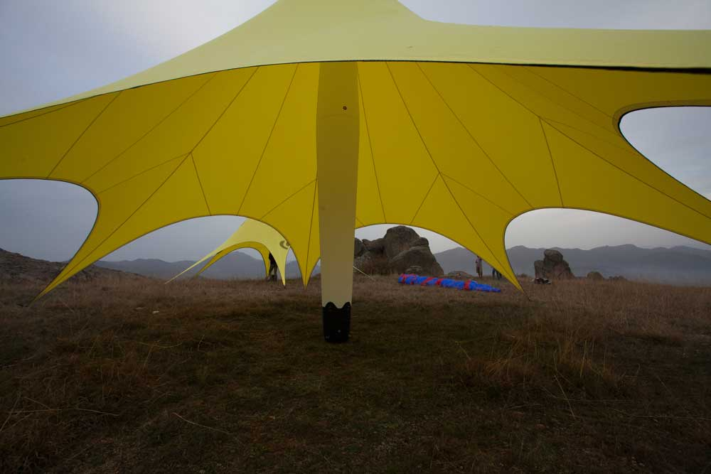 GYBE Star Tents supporting column