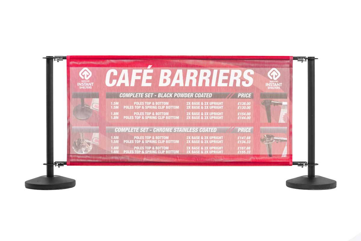 Cafe Barrier - Chrome Frame