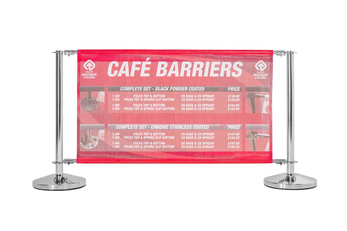 Cafe Barrier, Black Frame