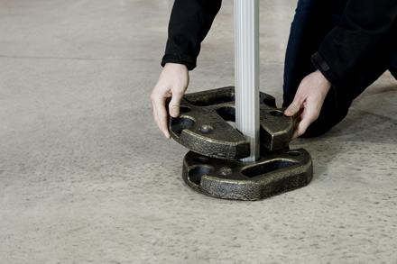Stackable weights to aid shelter stability