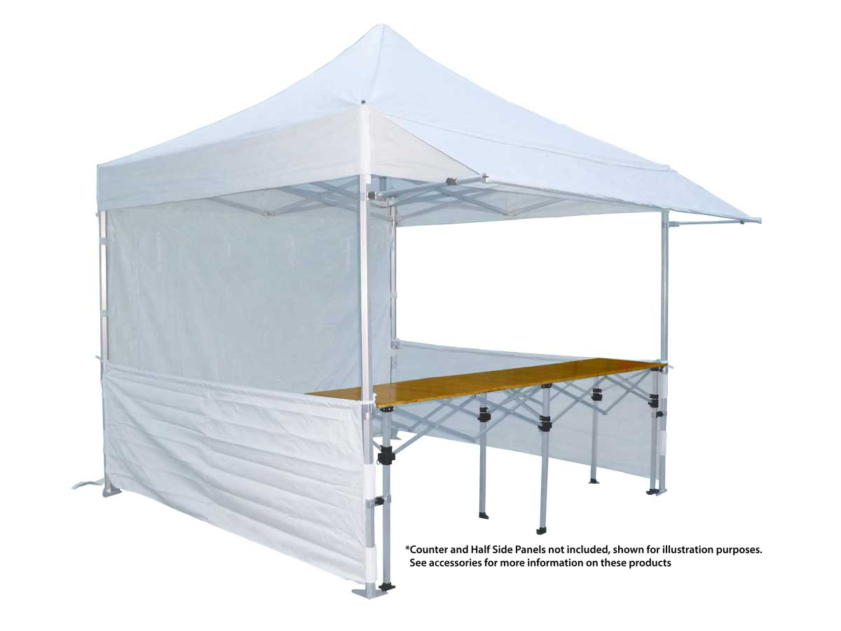 Canopro Lite 3x3 with extending rain canopy