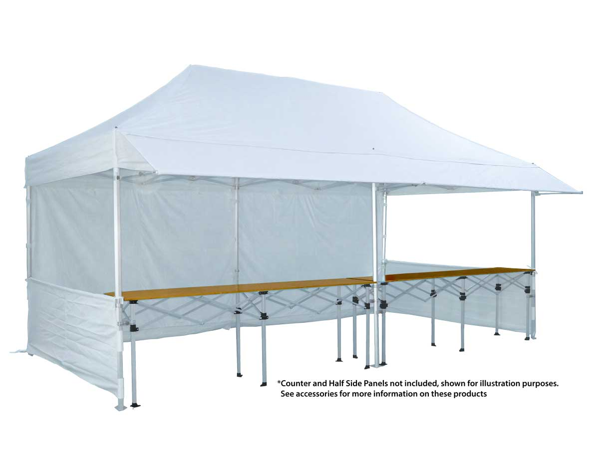 Canopro Lite 6x3 with extending rain canopy